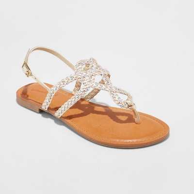 Jana Braided Thong Ankle Strap Sandal from Universal Thread