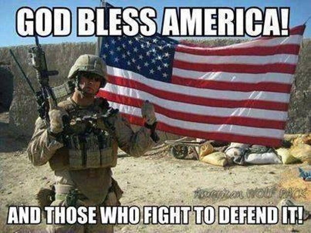 Thank defenders of freedom by posting this patriotic 4th of July meme.