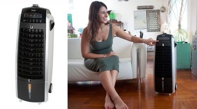 Quilo 3-in-1 Quiet Energy Efficient Tower Fan with Evaporative Cooler & Humidifier