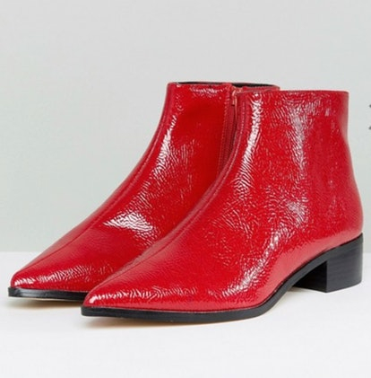 River Island Flat Pointed Toe Ankle Boot