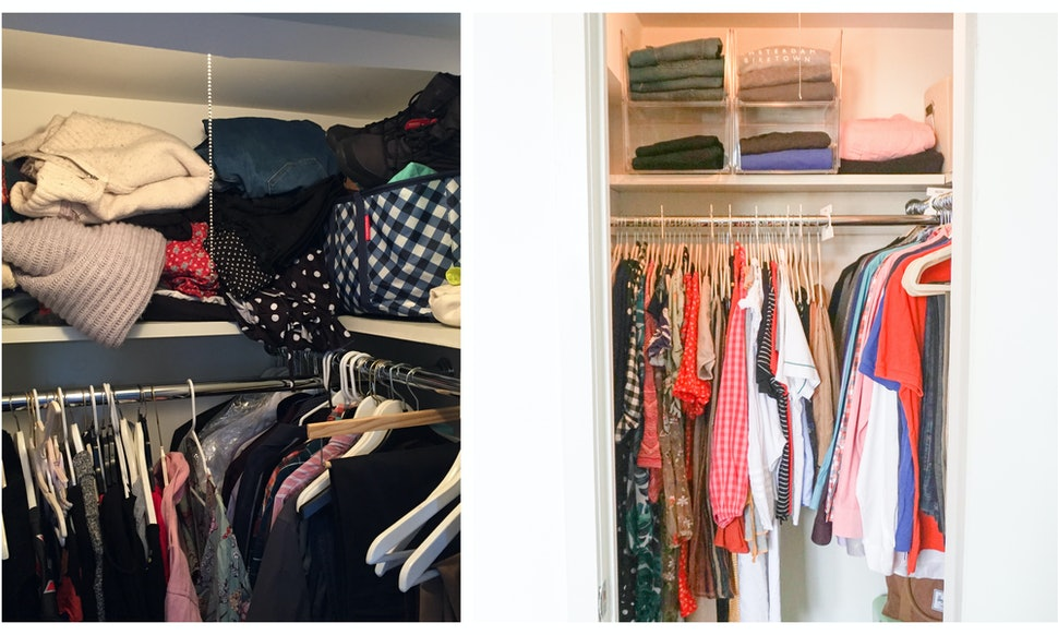 How to organize a small closet according to a - How to organize clothes without a closet ...