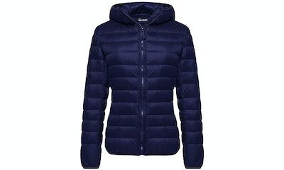 Wantdo Women's Hooded Packable Down Jacket