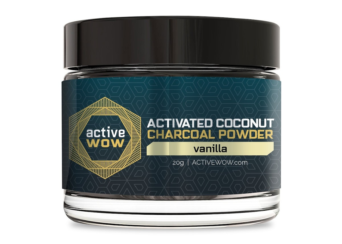Active Wow Vanilla Charcoal Tooth Powder