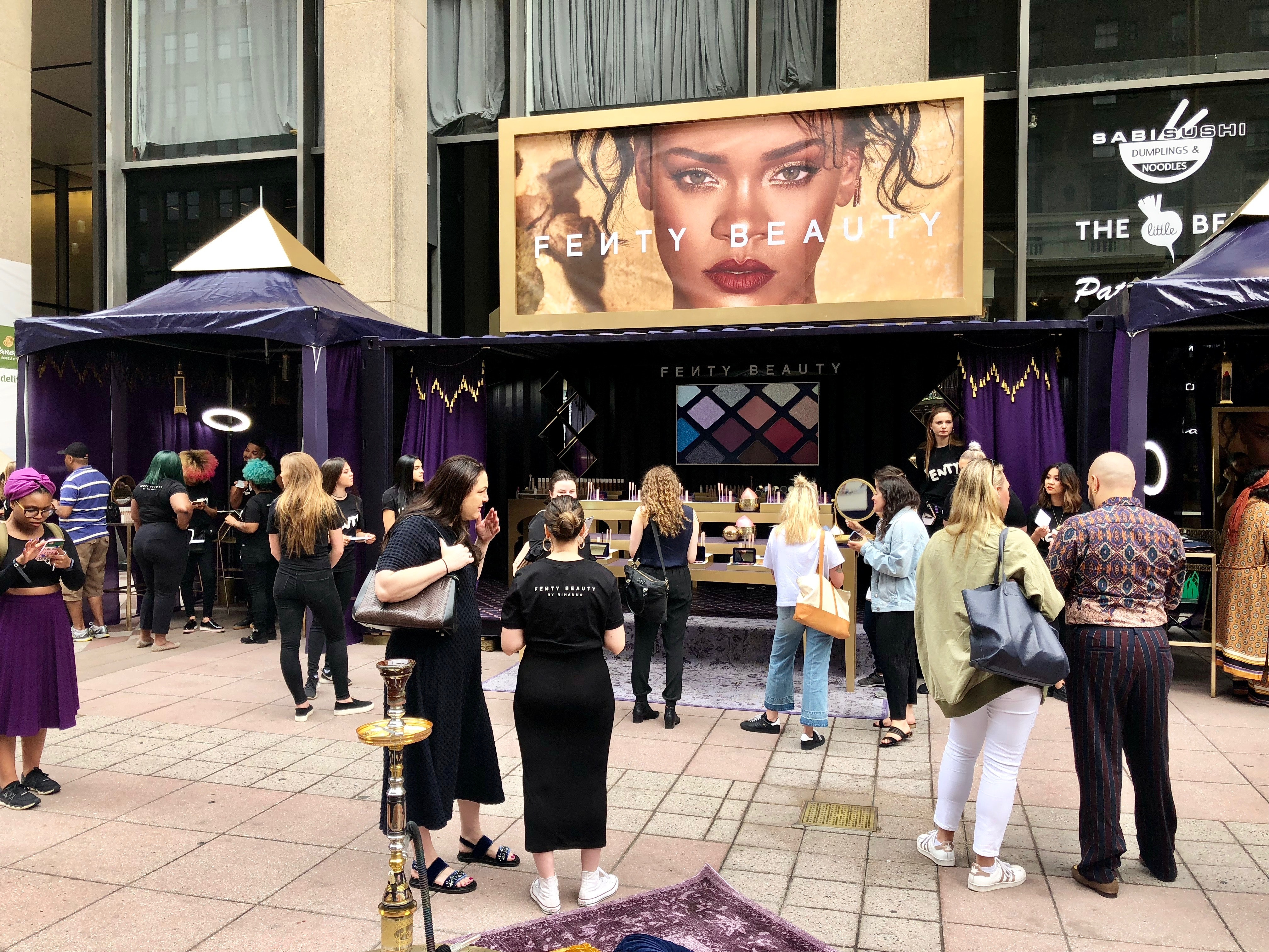 What Does The Fenty Beauty Pop-Up Shop Look Like  I Got To Experience The  Hype IRL efac37bc4881