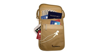 IGOGEER Deluxe RFID Blocking Neck Wallet