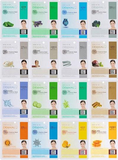 Dermal Korea Collagen Essence Full Face Facial Mask Set