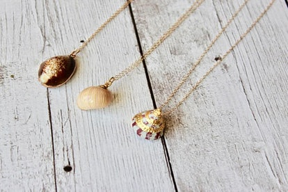 Real Shell in 24K Gold Necklace