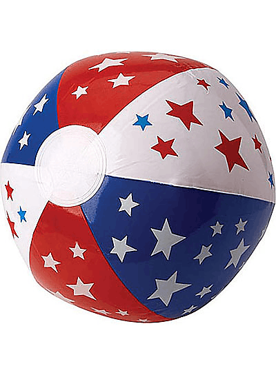 Patriotic Red, White, and Blue Beach Ball