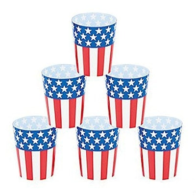 Fun Express Red, White, and Blue Patriotic Shot Glasses