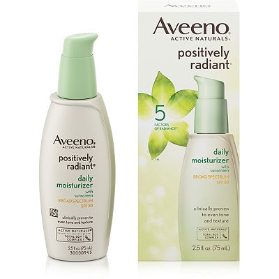 Aveeno Positively Radiant Daily Facial Moisturizer With Broad Spectrum SPF 30