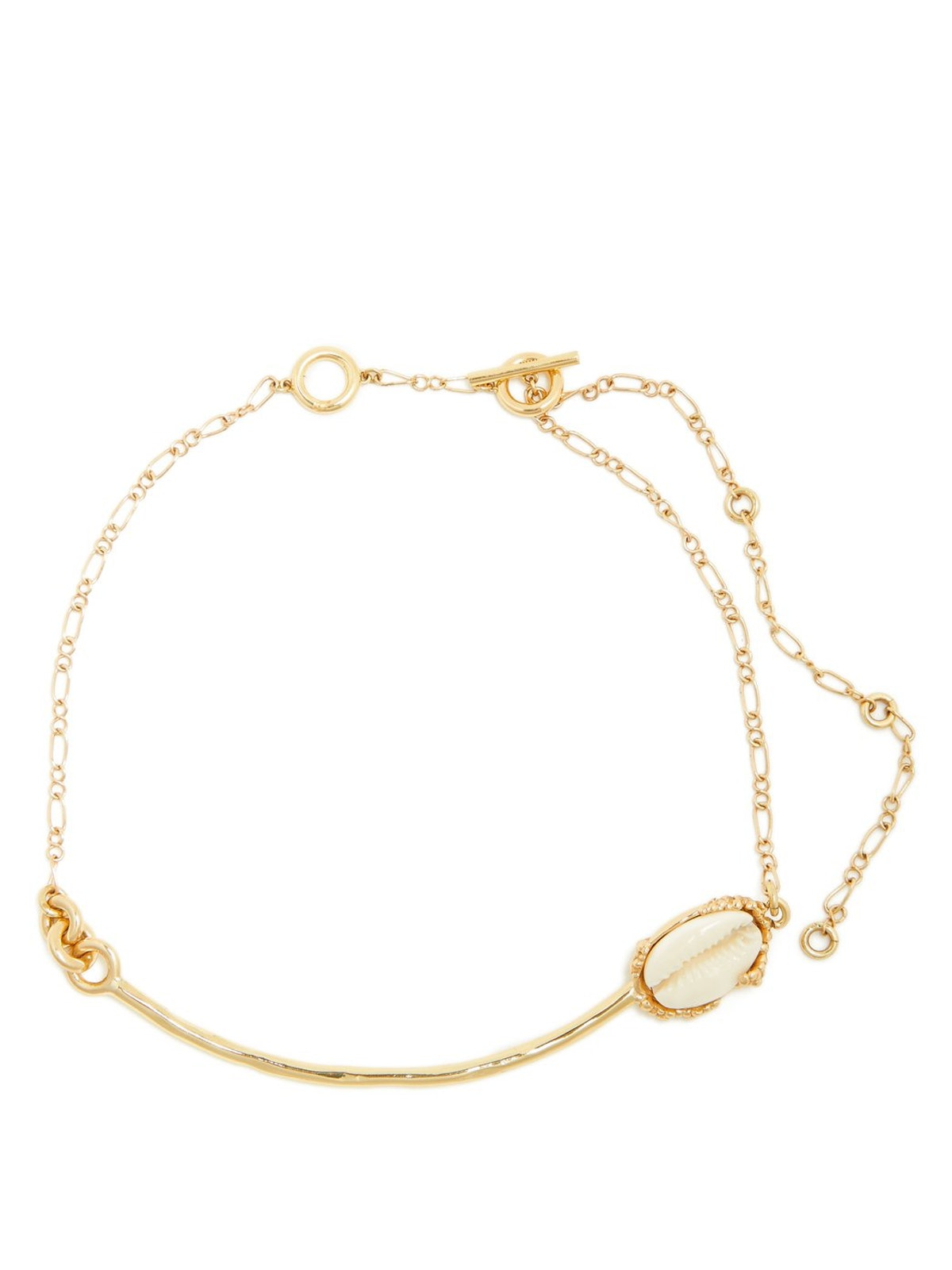 ELLERY  Igneous shell gold-plated choker