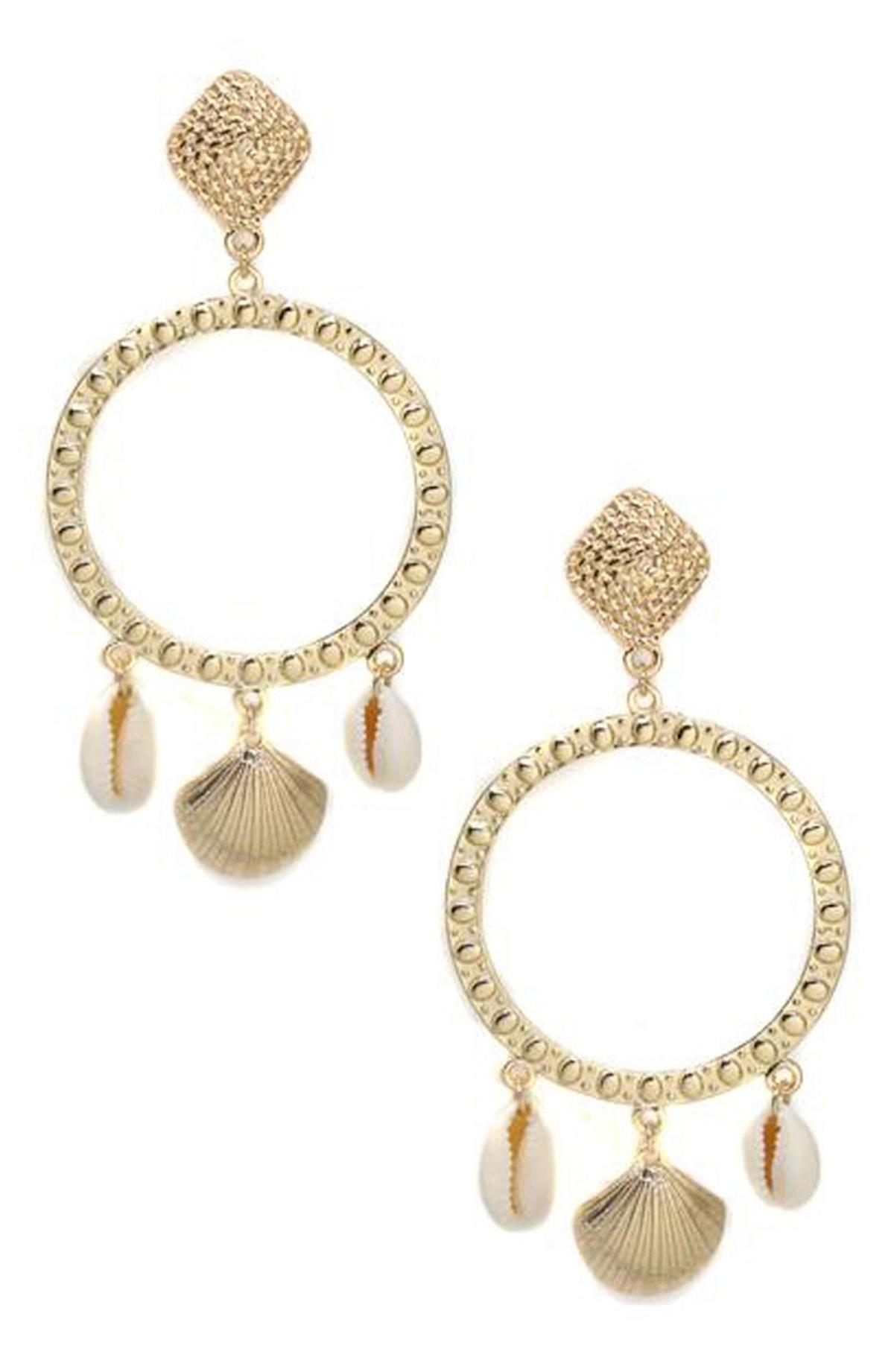 Shell Statement Earrings ETTIKA