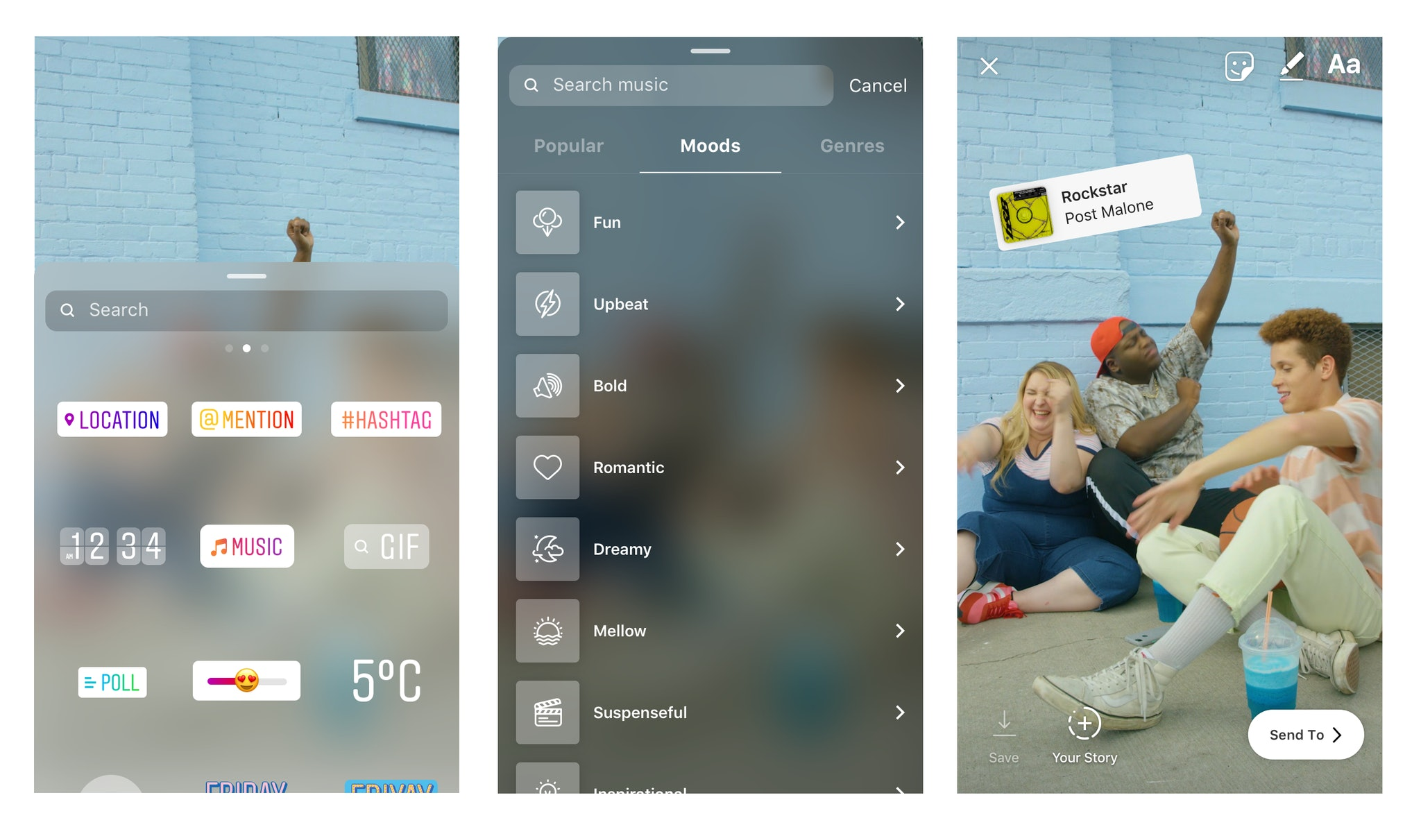 How to get videos to play on instagram story