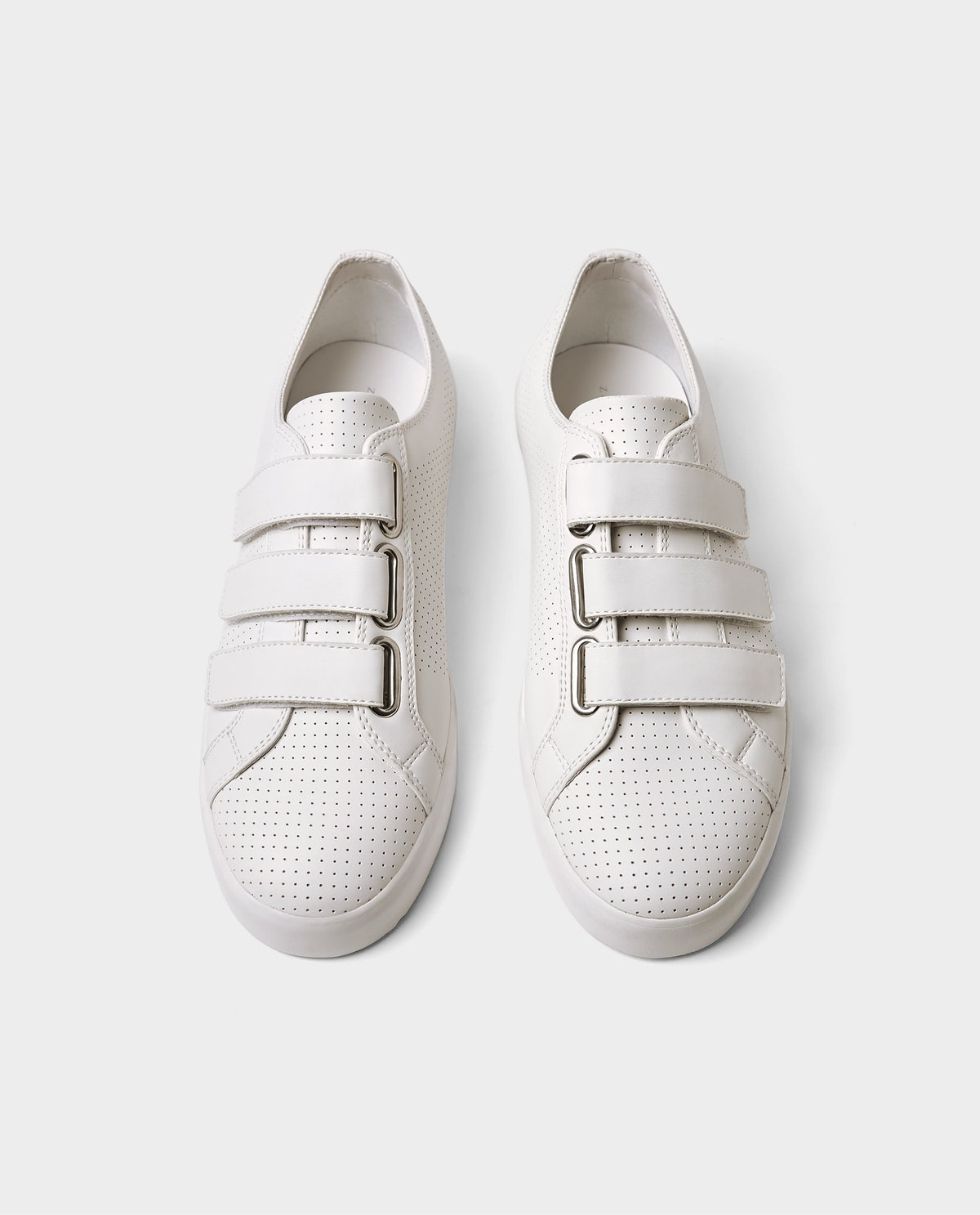 MICRO-PERFORATED SNEAKERS WITH STRAPS