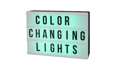 DIY Color Changing Lightbox Novelty Table Lamp