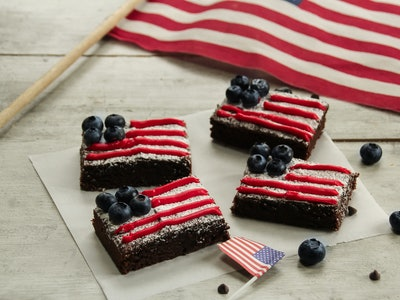 american flag brownies