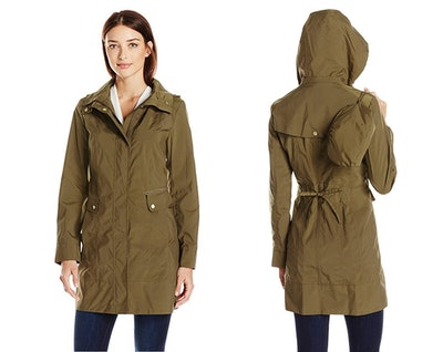 Cole Haan Women's Packable Rain Jacket with Removable Hood