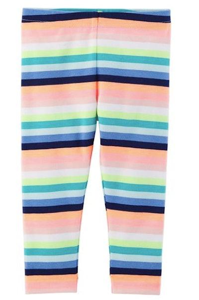 Striped Capri Leggings