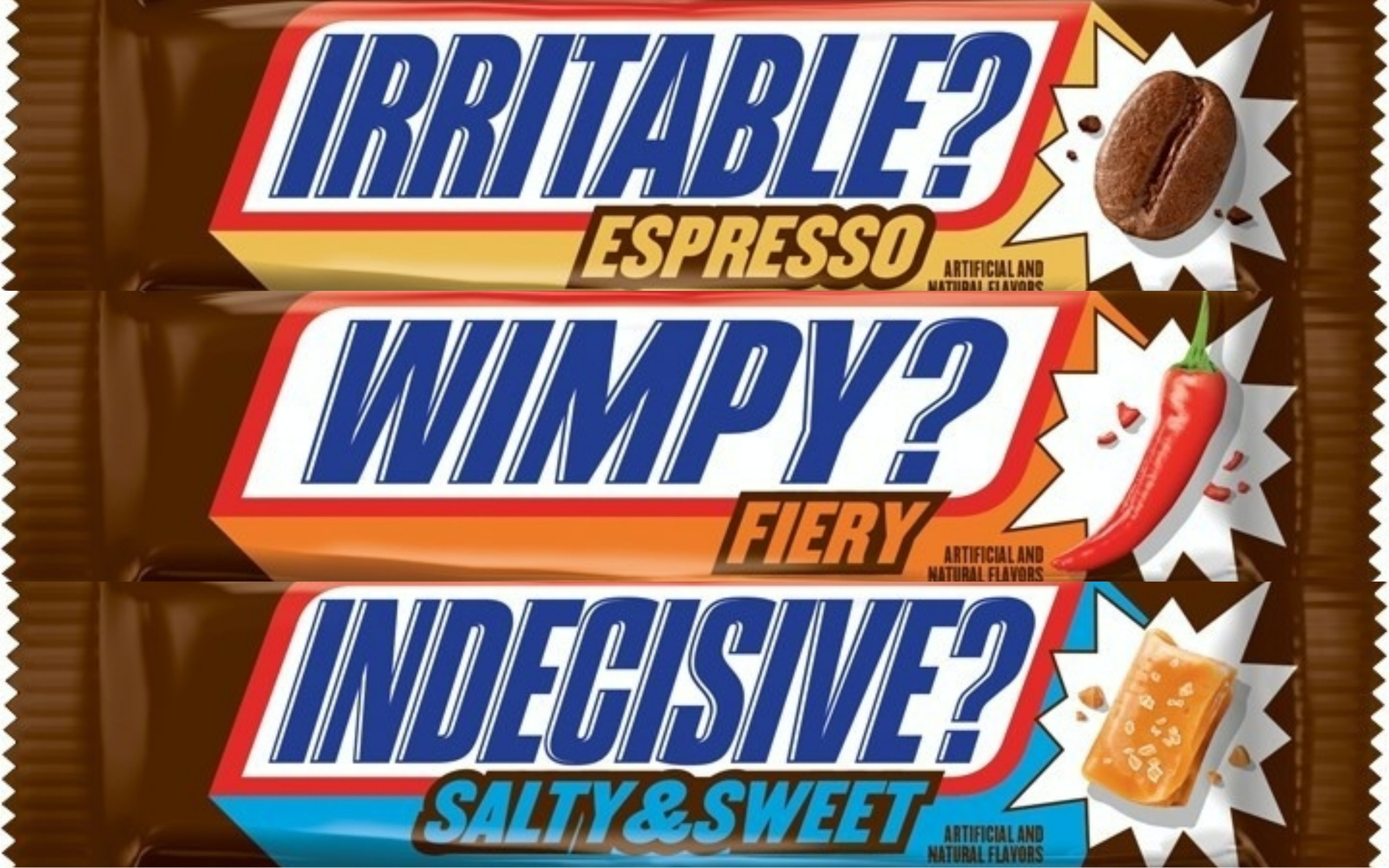 Snickers Has Three New Flavors, Including Espresso, Fiery