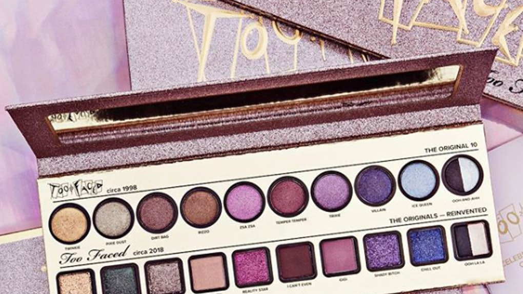 This Too Faced 90s Eyeshadow Palette Lipstick Will Make Your