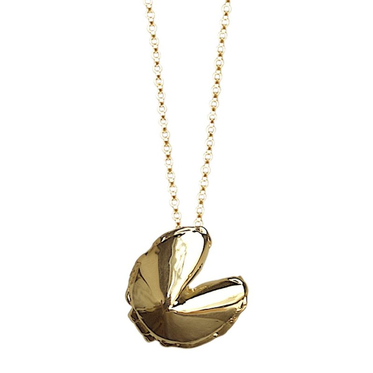 Fortune Cookie Locket Necklace