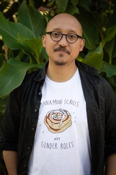Cinammon Scrolls Not Gender Roles Tee
