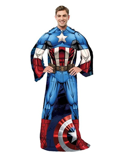 Northwest Captain America,First Avenger Adult Comfy Throw Blanket with Sleeves