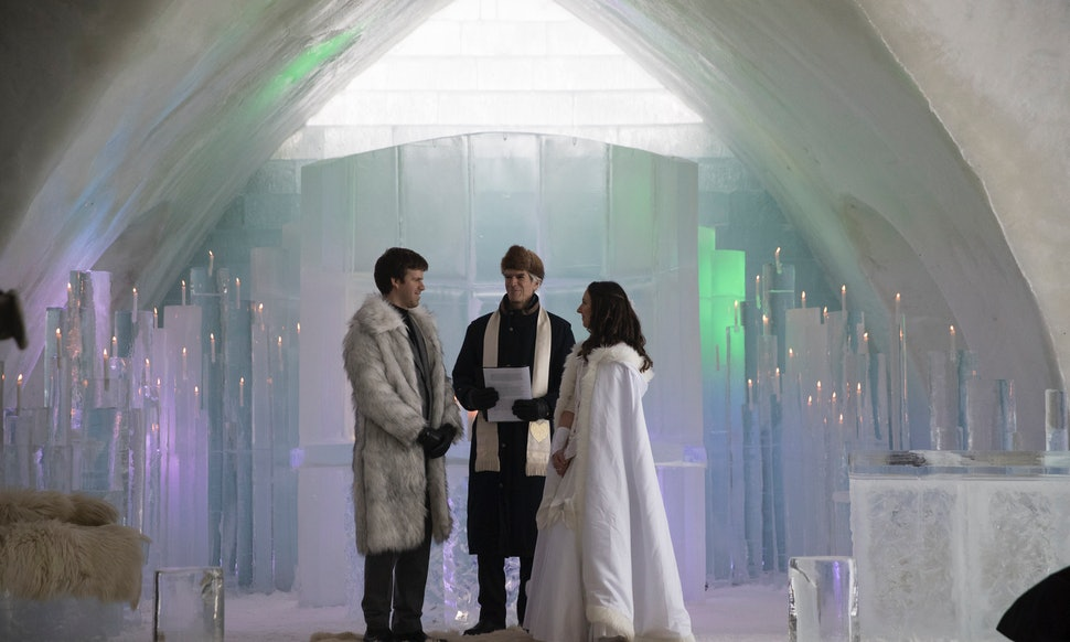 Karen Sam Yurick Said They Wanted A Wedding In Chapel Made Of Ice Meant It