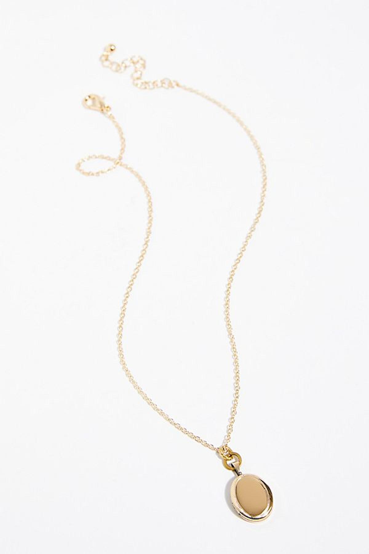 Scripted Locket Necklace