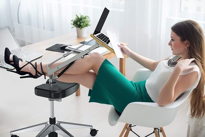 RoomyRoc Mobile Laptop Stand With Footrest