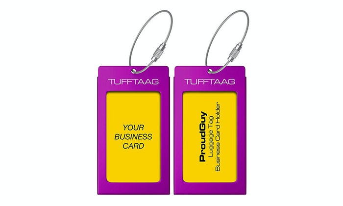 The Best Luggage Tags - Luggage tag business card template