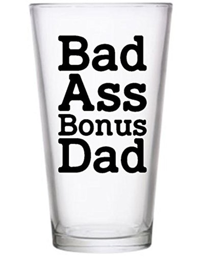 Badass Bonus Dad Pilsner Glass