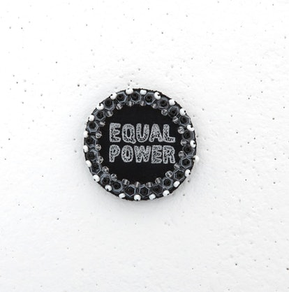 Statement Pin – Equal Power – Black and Gunmetal on Black