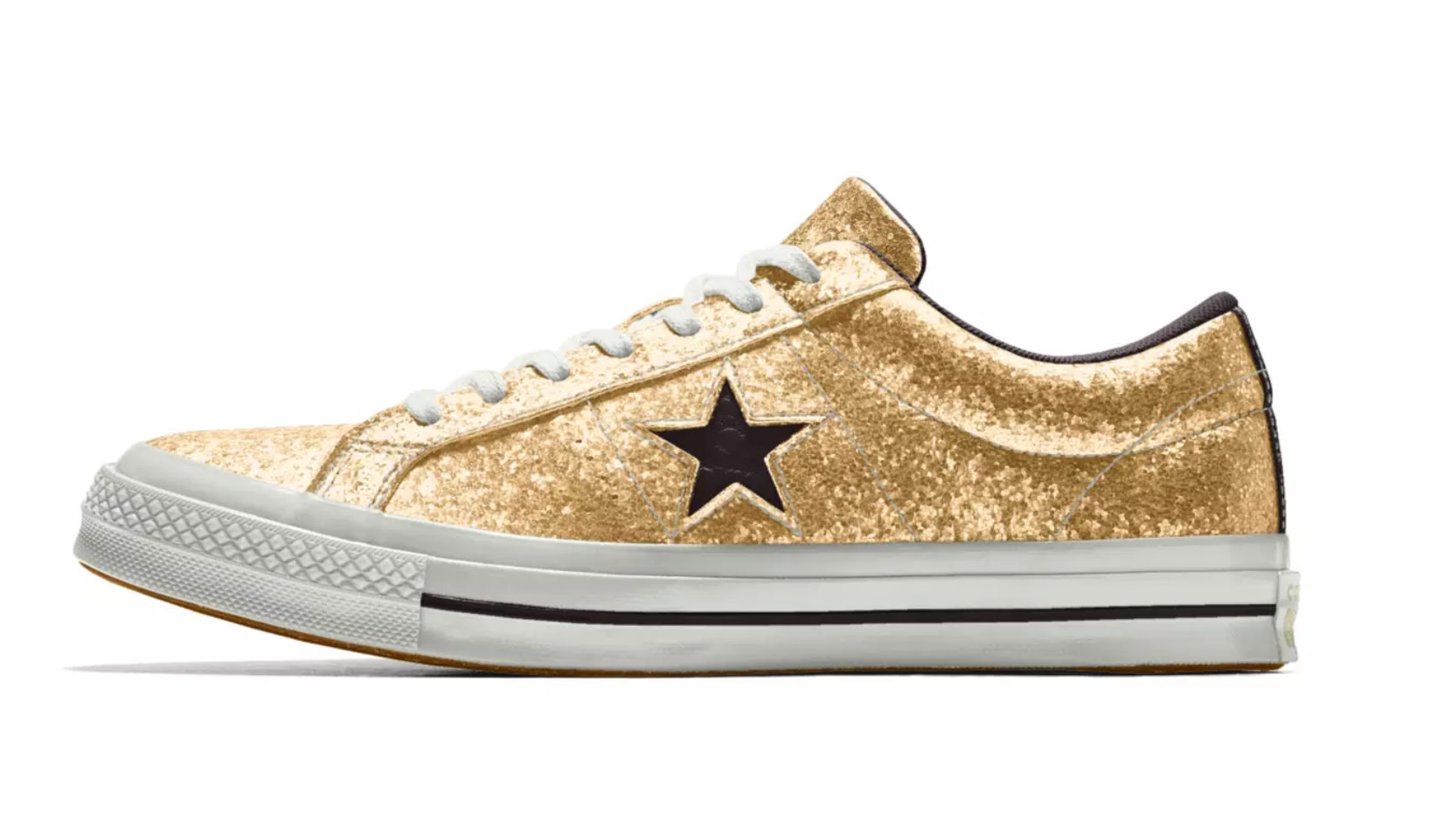 318d5d82876a Converse s One Star Glitter Sneakers Are Like Galaxies For Your Feet