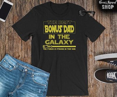 Best Bonus Dad in the Galaxy Men's T-Shirt
