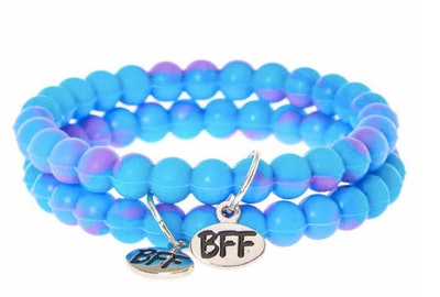 Best Friends Blue and Purple Ombre Fortune Bracelets