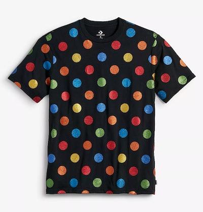 Polka Dot Women's Shirt — Black