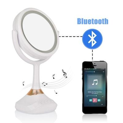 Aushen Makeup Mirror With Bluetooth