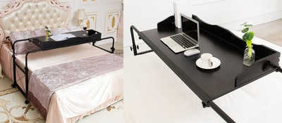 UNICOO Overbed Table Laptop Cart