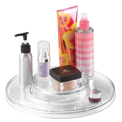 MetroDecor mDesign Spinning Two-Tier Lazy Susan Turntable Storage Tray