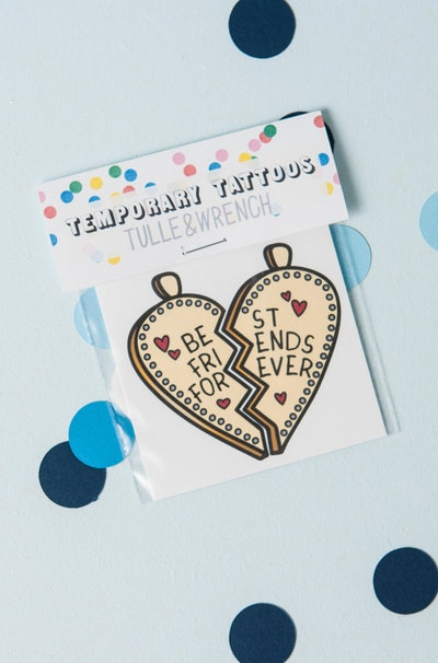 Mischief Maker Party Best Friends Forever Temporary Tattoo