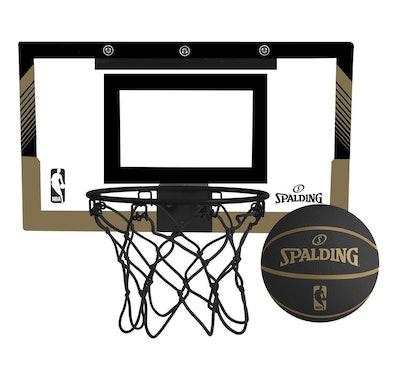 Spalding NBA Slam Jam Over-The-Door Black & Gold Edition Basketball Hoop