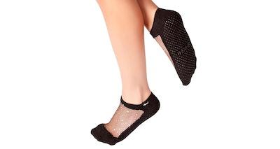 Shashi Star Glitter Mesh Non-Slip Socks