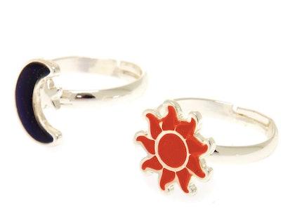 Silver Best Friends Sun & Moon Mood Rings - 2 Pack