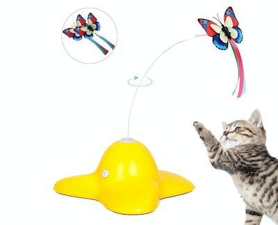 Bascolor Electric Rotating Butterfly Teaser Toy