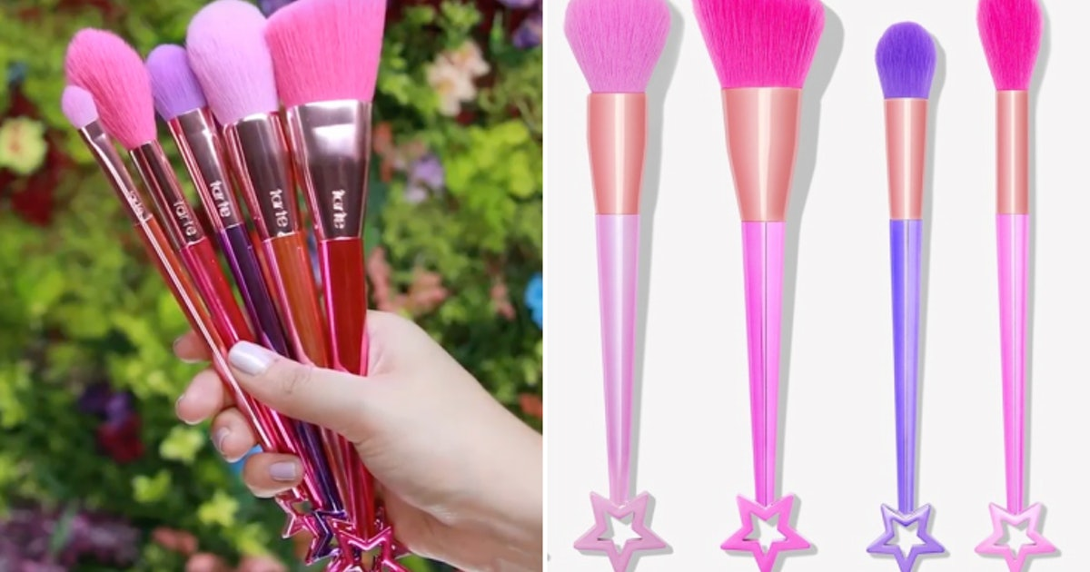 142caf4529a Tarte's Fairy Dust Brush Set Looks Like A Collection Of Glossy Magical Wands