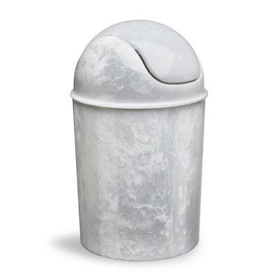 Mini Can Wastebasket in White/Onyx
