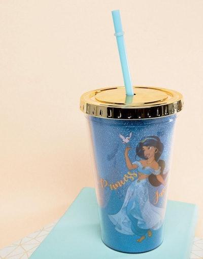 Disney Jasmine Water Tumbler With Straw
