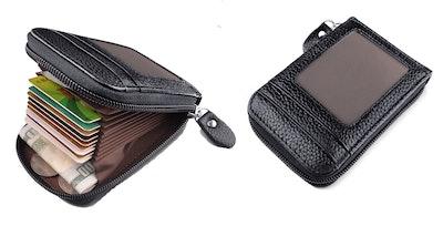 MaxGear Zipper Credit Card Wallet