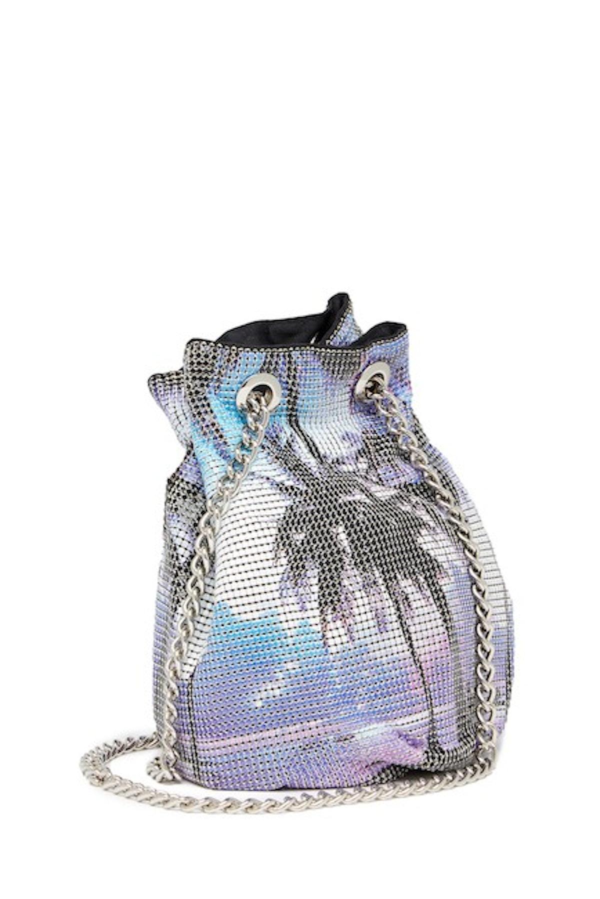 Whiting & Davis Multi Palms Crossbody Bucket Bag